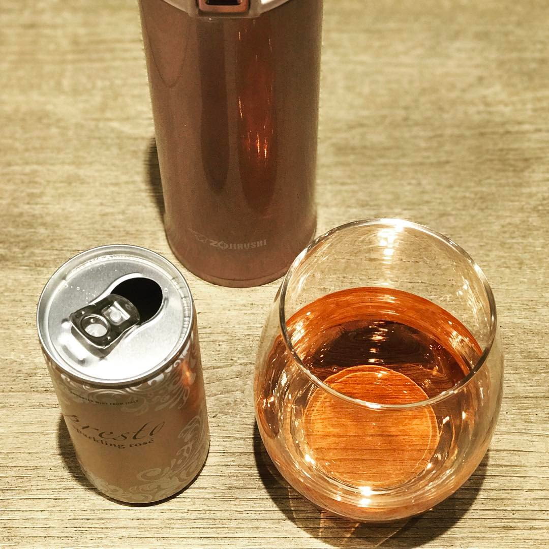 Sparkling Rose in a Can